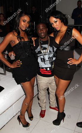 Stock Photo of L-R) Cast members Raquel Lee, Kevin Hart and Jasmin Jaye attend BET Real Husbands of Hollywood Wrap Party at SupperClub on Friday, Nov. 2nd, 2012, in Hollywood, California