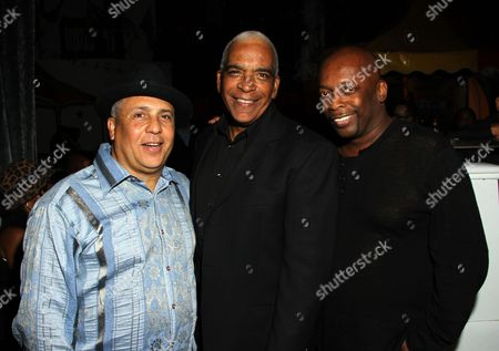 Stock Picture of L-R) TV and film producers Carl Craig, Stan Lathan and music composer Kurt Farquhar attend BET Real Husbands of Hollywood Wrap Party at SupperClub on Friday. Nov. 2nd, 2012, in Hollywood, California