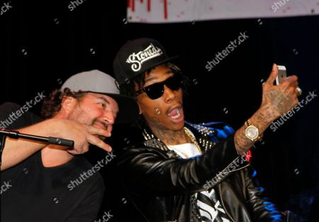 Songwriters Dallas Davidson and Wiz Khalifa seen at BMI Presents: How I Wrote That Song 2014 at the House of Blues, in West Hollywood, Calif