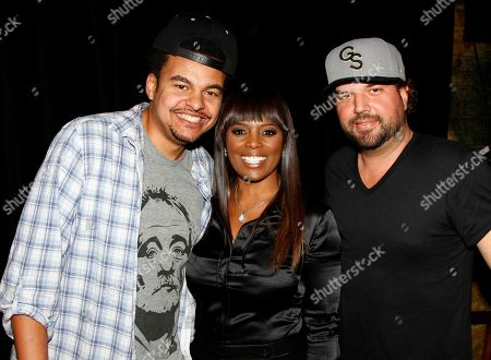 Catherine Brewton (C), Vice President, Writer/Publisher Relations at BMI and songwriters Alex Da Kid (L) and Dallas Davidson (R) seen on stage at BMI Presents: How I Wrote That Song 2014 at the House of Blues, in West Hollywood, Calif