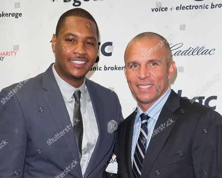 Carmelo Anthony and Jason Kidd arrives at the Annual Charity Day hosted by Cantor Fitzgerald and BGC Partners, on in New York