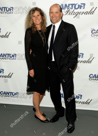 Edie Lutnick, Co-Founder and Executive Director of The Cantor Fitzgerald Relief Fund, left, and Howard Lutnick, Chairman and CEO of Cantor Fitzgerald, right, attend Cantor Fitzgerald and BGC Partners' 10th Annual Charity Day on in New York