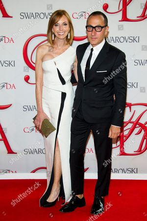 Stock Picture of Susan Sokol and Gilles Mendel arrive at the CFDA Fashion Awards, in New York