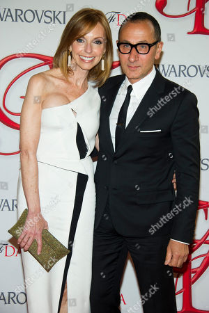 Stock Photo of Susan Sokol and Gilles Mendel arrive at the CFDA Fashion Awards, in New York