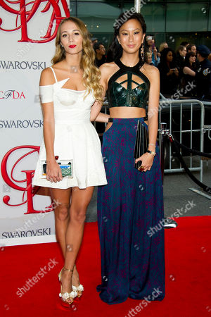 Jen Kao and Harley Viera Newton arrive at the CFDA Fashion Awards, in New York