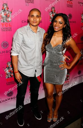 Actors and recording artists Jonathan 'Lil J' McDaniel and Shanica Knowles arrive at Chambored Vodka Goes Hollywood Hosted by Boris Kodjoe at Chinese 6 Theatre Ballroom in Hollywood, Calif