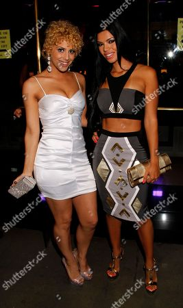 Jillis Lynn Models Jillisa Lynn and Suelyn Medeiros seen at Chambored Vodka Goes Hollywood Hosted by Boris Kodjoe at Chinese 6 Theatre Ballroom in Hollywood, Calif