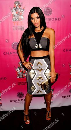 Model Suelyn Medeiros arrives at Chambored Vodka Goes Hollywood Hosted by Boris Kodjoe at Chinese 6 Theatre Ballroom in Hollywood, Calif