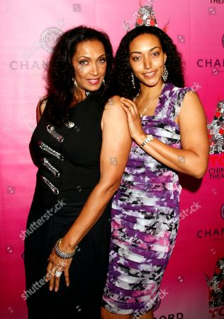 Stock Image of Kathleen Bradley and daughter Cheyenne Overton attend Chambored Vodka Goes Hollywood Hosted by Boris Kodjoe at Chinese 6 Theatre Ballroom in Hollywood, Calif