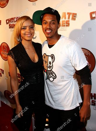 Actor Wesley Jonathan (R) and guest attend Chocolate Sundaes Comedy Show Premiere at The Mark For Events, in Beverly Hills, California. Chocolate Sundaes Comedy Show debuts on Showtime Feb 7, 2013