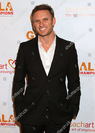 Ryan McGarry arrives at the CoachArt Gala of Champions in Beverly Hills, Calif. on