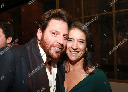 "Stock Picture of Chef Scott Conant and senior vice president and publisher of FOOD & WINE Christina Grdovic seen at CHEFS CLUB BY FOOD & WINE opening party and celebration of Dana Cowin's new book ""Mastering My Mistakes in the Kitchen,"" at CHEFS CLUB BY FOOD & WINE on in New York"