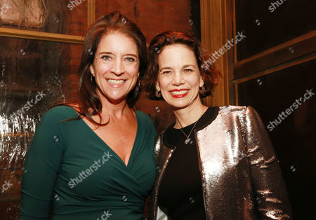 """Senior vice president and publisher of FOOD & WINE Christina Grdovic and editor-in-chief of FOOD & WINE Dana Cowin seen at CHEFS CLUB BY FOOD & WINE opening party and celebration of Dana Cowin's new book """"Mastering My Mistakes in the Kitchen,"""" at CHEFS CLUB BY FOOD & WINE on in New York"""