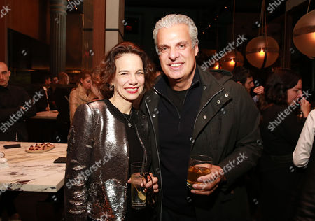 """Stock Image of Editor-in-chief of FOOD & WINE Dana Cowin and chef Eric Ripert seen at CHEFS CLUB BY FOOD & WINE opening party and celebration of Dana Cowin's new book """"Mastering My Mistakes in the Kitchen,"""" at CHEFS CLUB BY FOOD & WINE on in New York"""