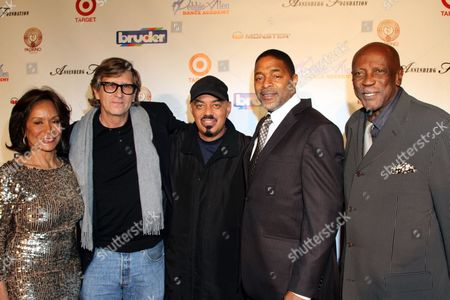 """L-R) Freda Payne, Rick Carter, James Ingram, Norm Nixon and Louis Gossett, Jr seen at Debbie Allen's All Star Gala """"One Night Only"""", on Thursday, December, 12, 2013 at Royce Hall on the campus of UCLA in Los Angeles. California"""