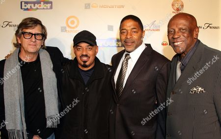 """L-R) Rick Carter, James Ingram, Norm Nixon and Louis Gossett, Jr seen at Debbie Allen's All Star Gala """"One Night Only"""", on Thursday, December, 12, 2013 at Royce Hall on the campus of UCLA in Los Angeles. California"""