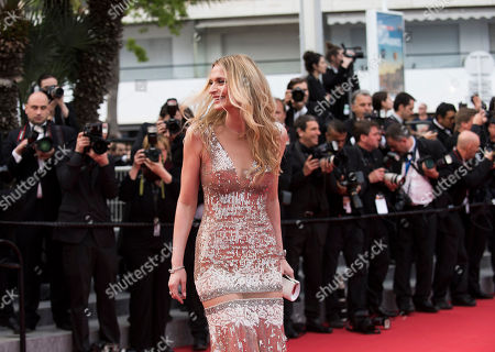 Sarah Marshall arrives for the screening of the film Dheepan at the 68th international film festival, Cannes, southern France