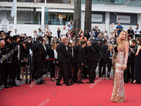Stock Picture of Sarah Marshall arrives for the screening of the film Dheepan at the 68th international film festival, Cannes, southern France