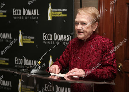 Editor of the International Fashion Syndicate Marylou Luther attends the Ecco Domani Fashion Foundation 2014 Winners Happy Hour, on in New York