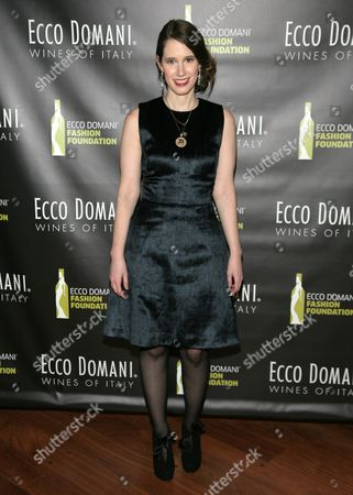 IMAGE DISTRIBUTED FOR ECCO DOMANI FASHION FOUNDATION - Fashion designer Jordana Warmflash attends the Ecco Domani Fashion Foundation 2014 Winners Happy Hour, on in New York
