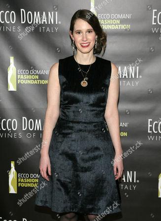 Stock Image of Fashion designer Jordana Warmflash attends the Ecco Domani Fashion Foundation 2014 Winners Happy Hour, on in New York