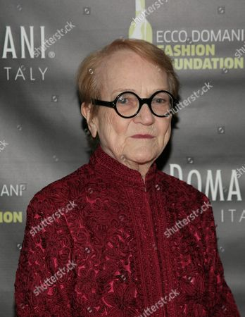 IMAGE DISTRIBUTED FOR ECCO DOMANI FASHION FOUNDATION - Editor of the International Fashion Syndicate Marylou Luther attends the Ecco Domani Fashion Foundation 2014 Winners Happy Hour, on in New York