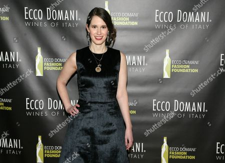 Stock Image of Fashion designer Jordana Warmflash attends the Ecco Domani Fashion Foundation 2014 Winners Happy Hour, on in New York