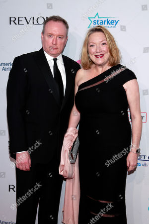 """Brent Langdon; Kristine Nielsen Brent Langdon and Kristine Nielsen arrives at the Elton John AIDS Foundation's 12th Annual """"An Enduring Vision"""" benefit gala at Cipriani Wall Street on in New York"""