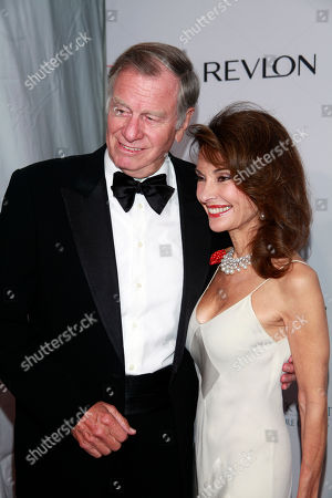 """Helmut Huber and Susan Lucci arrive at the Elton John AIDS Foundation's 12th Annual """"An Enduring Vision"""" benefit gala at Cipriani Wall Street on in New York"""