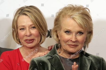 "Series creator Diane English, left, and actress Candice Bergen, right, attend ""Murphy Brown: A 25th Anniversary Event"" presented by ENCORE, in New York"