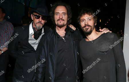 Tommy Flanagan, and from left, Kim Coates and Niko Nicotera attend Entertainment Weekly's Annual Comic-Con Closing Night Celebration at the Hard Rock Hotel, in San Diego