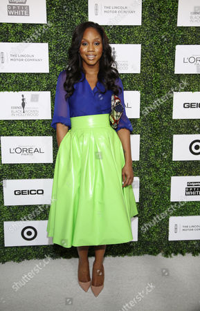 Stock Photo of Sarah Jakes arrives at ESSENCE Black Women in Hollywood Luncheon at The Beverly Hills Hotel, on in Beverly Hills, Calif