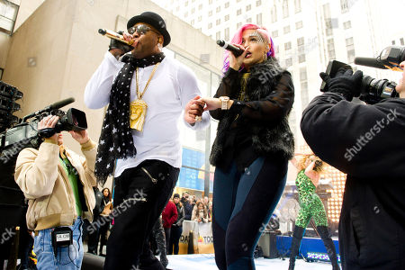 """Flo Rida and Stayc Reigns perform on NBC's """"Today"""" show on in New York"""