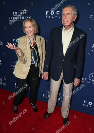 "Eva Marie Saint and Jeffrey Hayden seen at Focus Features Los Angeles premiere of ""The Theory of Everything"", in Beverly Hills"
