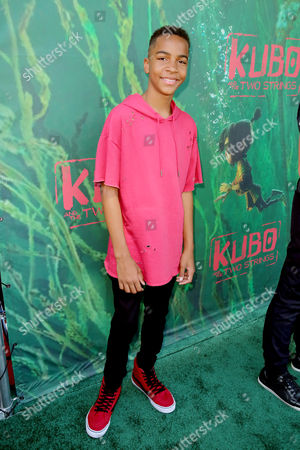 "Stock Image of Terrell Ransom Jr. seen at Focus Features Los Angeles Premiere of LAIKA ""Kubo and The Two Strings"", in Universal City, Calif"