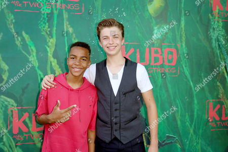 "Terrell Ransom Jr. and Jacob Hopkins seen at Focus Features Los Angeles Premiere of LAIKA ""Kubo and The Two Strings"", in Universal City, Calif"
