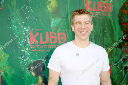 """Stock Photo of Screenwriter Marc Haimes seen at Focus Features Los Angeles Premiere of LAIKA """"Kubo and The Two Strings"""", in Universal City, Calif"""
