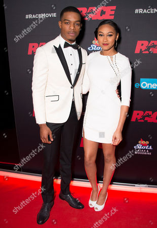 """Actors Stephan James and Shanice Banton seen at the Focus Features premiere of """"Race"""", in Toronto"""