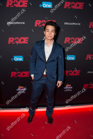 "Stock Photo of Actor Shannon Kook seen at the Focus Features premiere of ""Race"", in Toronto"