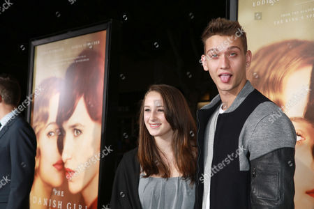 Cody Saintgnue and guest seen at Focus Features Los Angeles premiere of 'The Danish Girl' at Regency Village Theatre, in Los Angeles, CA