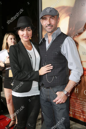 Lorena Mendoza and Shaun Toub seen at Focus Features Los Angeles premiere of 'The Danish Girl' at Regency Village Theatre, in Los Angeles, CA