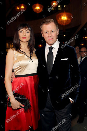 "Mina Korzeniowska and Composer Abel Korzeniowski seen at Focus Features Los Angeles Special Screening of ""Nocturnal Animals"" at Hammer Museum, in Los Angeles"