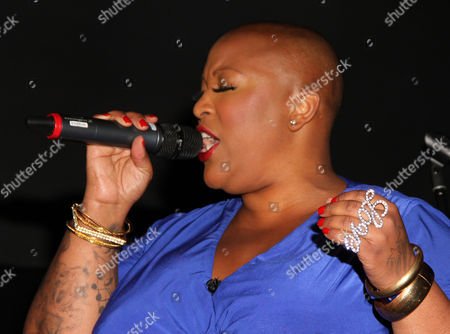 Frenchie Davis performs at For the Love of R&B - A Tribute to Whitney Houston at Tru Hollywood, in Los Angeles
