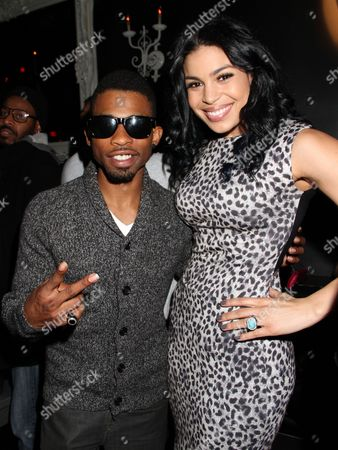 Stock Image of Marcus T. Paulk, left, and Jordin Sparks attend For the Love of R&B - A Tribute to Whitney Houston at Tru Hollywood, in Los Angeles