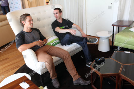 Alex Heartman, left, visits the Xbox 360 and Children's Miracle Network Gaming and Giving for Good (G3) Miracle Lounge on in West Hollywood, Calif
