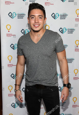 Stefano Langone poses for a photo at the Xbox 360 and Children's Miracle Network Gaming and Giving for Good (G3) Miracle Lounge on in West Hollywood, Calif