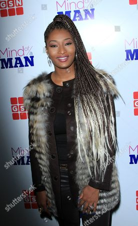 "TV personality Toccara Jones seen at GSN ""Mind of a Man"" Premiere Launch Party, on in West Hollywood. California"