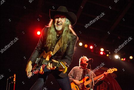 Patrick Simmons and John Cowan of The Doobie Brothers perform at the Harley-Davidson 110th Anniversary celebration, on in Milwaukee, WI