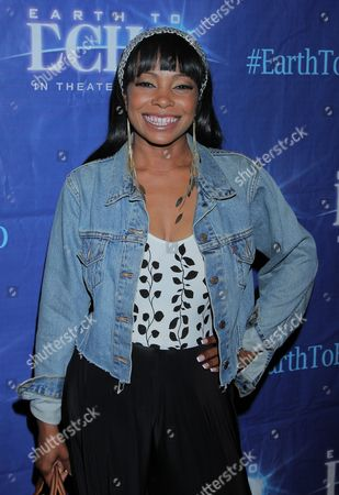 """Actress Paula Jai Parker seen at Holly Robinson Peete's Screening of Relativity's """"Earth To Echo"""" Benefiting the HollyRod Foundation at Pacific Theatres at the Grove, in Los Angeles, California"""