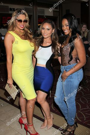 "From left: Somaya Reece, Daphne Joy and Malaysia Pargo seen at Holly Robinson Peete's Screening of Relativity's ""Earth To Echo"" Benefiting the HollyRod Foundation at Pacific Theatres at the Grove, in Los Angeles, California"